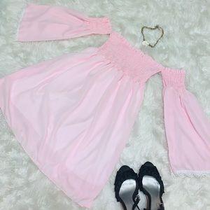 Pink Bell Sleeve Dress 🔔